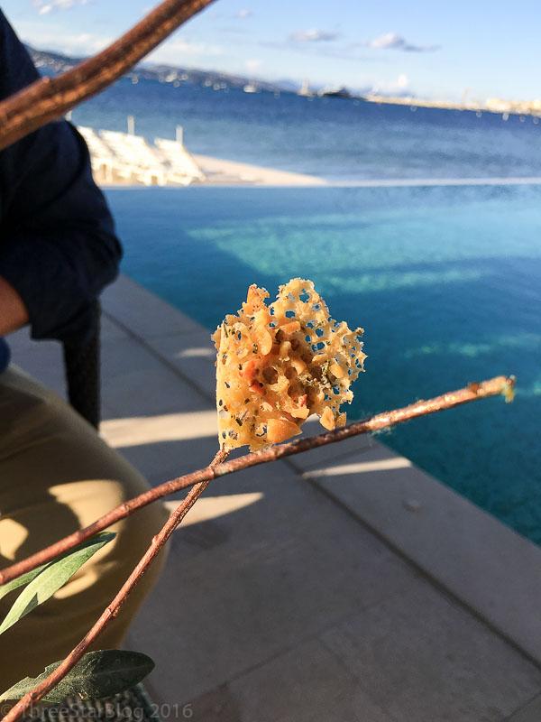 First Bites: Foie Gras + Pine Nut Crest, 8/10