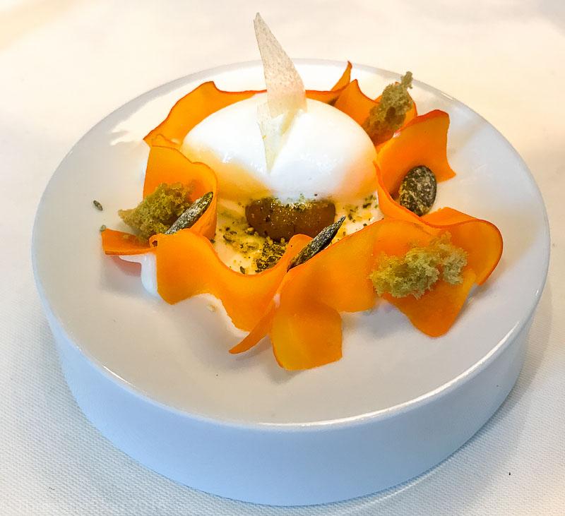 Course 9: Pumpkin + Yogurt Ice Cream, 9/10