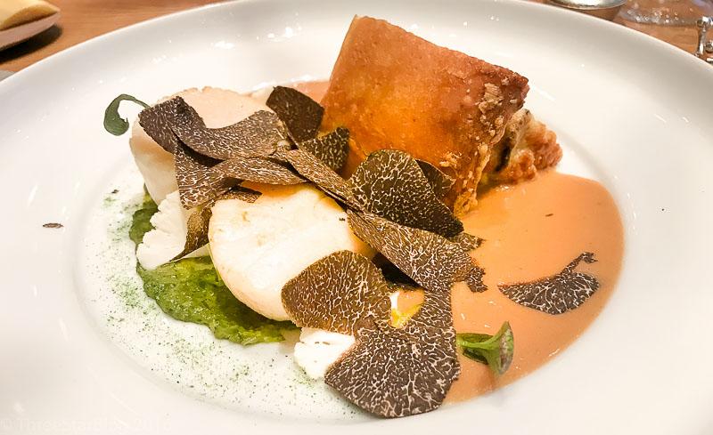 Course 2: Coquille de St. Jacques + Cauliflower + Black Truffle, 3/10