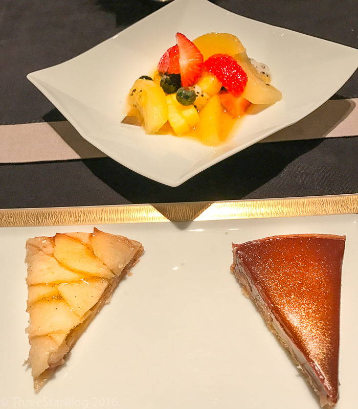 Course 5A: Fresh Fruit + Apple Tart + Chocolate Tarte, 8/10