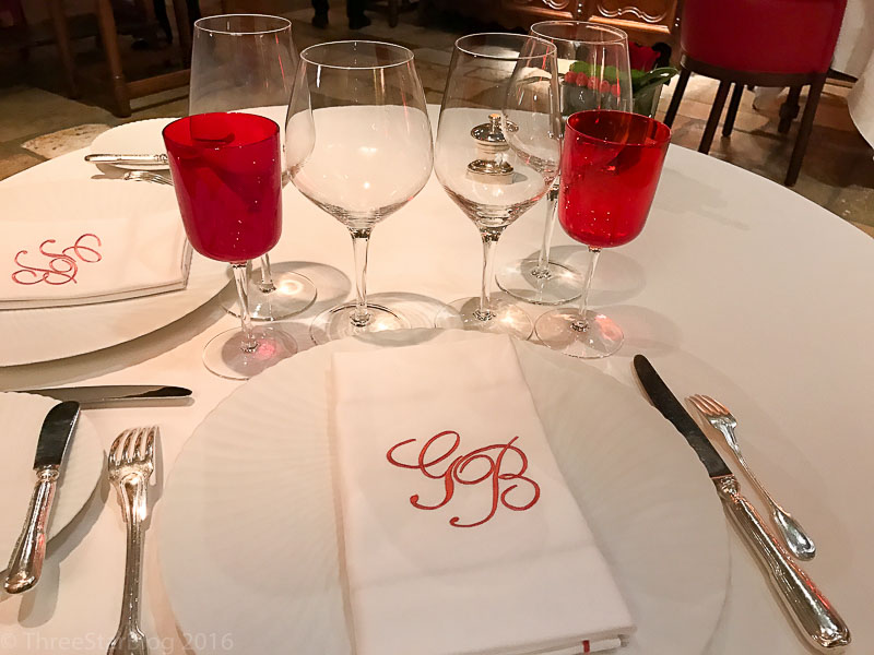 Georges Blanc Table Setting