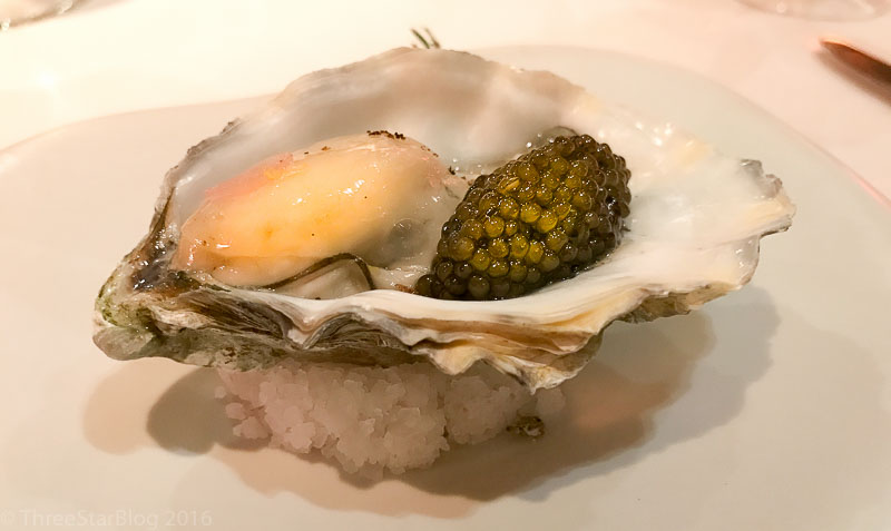"Course 1: ""Earth & Sea,"" Oyster + Caviar, 9/10"