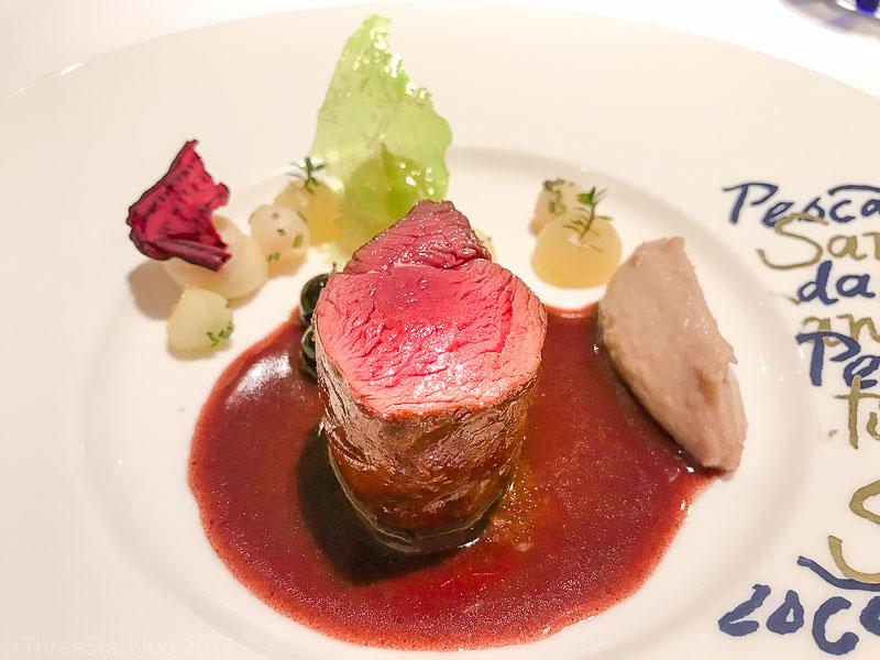 Course 9: Venison + Cabernet + Blueberry Sauce, 9/10