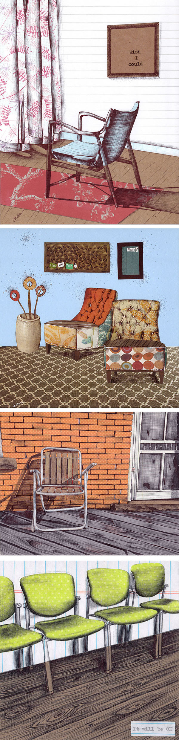 Sad Chair Illustrations by Jennifer Johansson