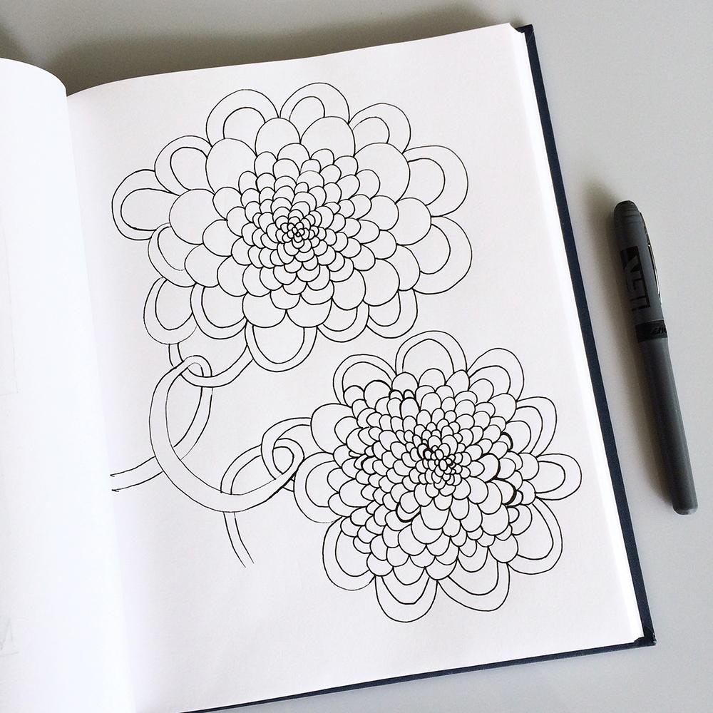 Sketchbook drawing of Jennifer Johansson