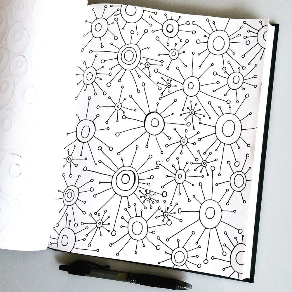 Sketchbook doodle by Jennifer Johansson