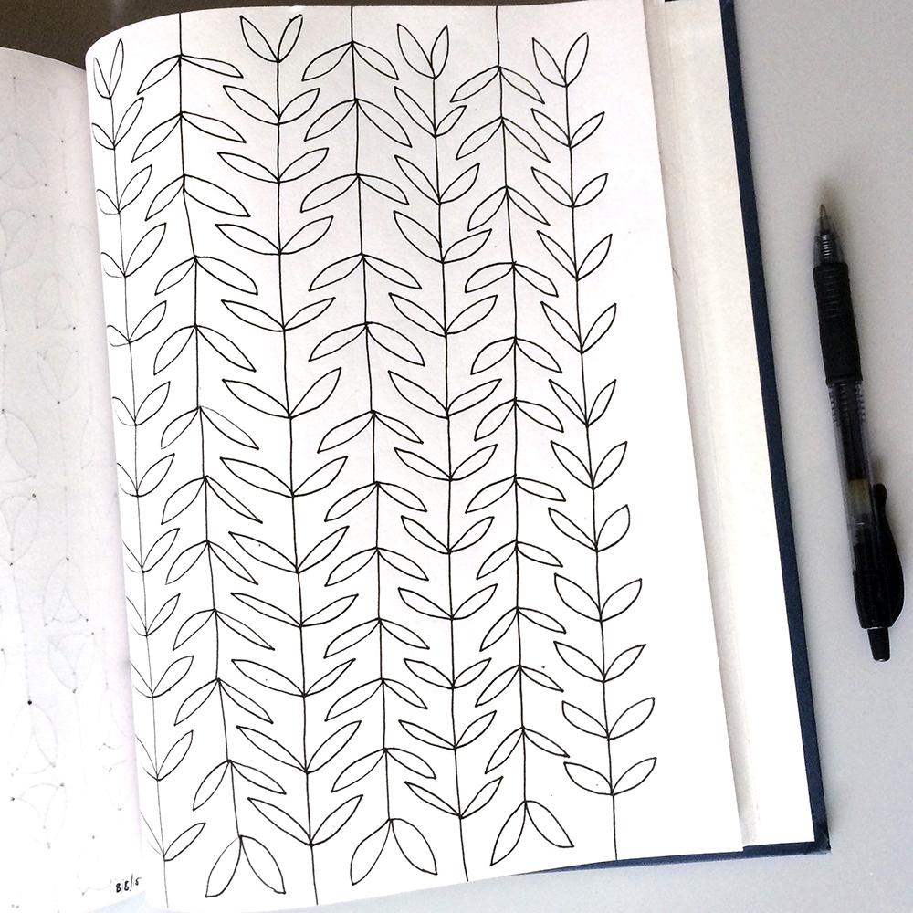A leaf pattern I drew in my sketchbook