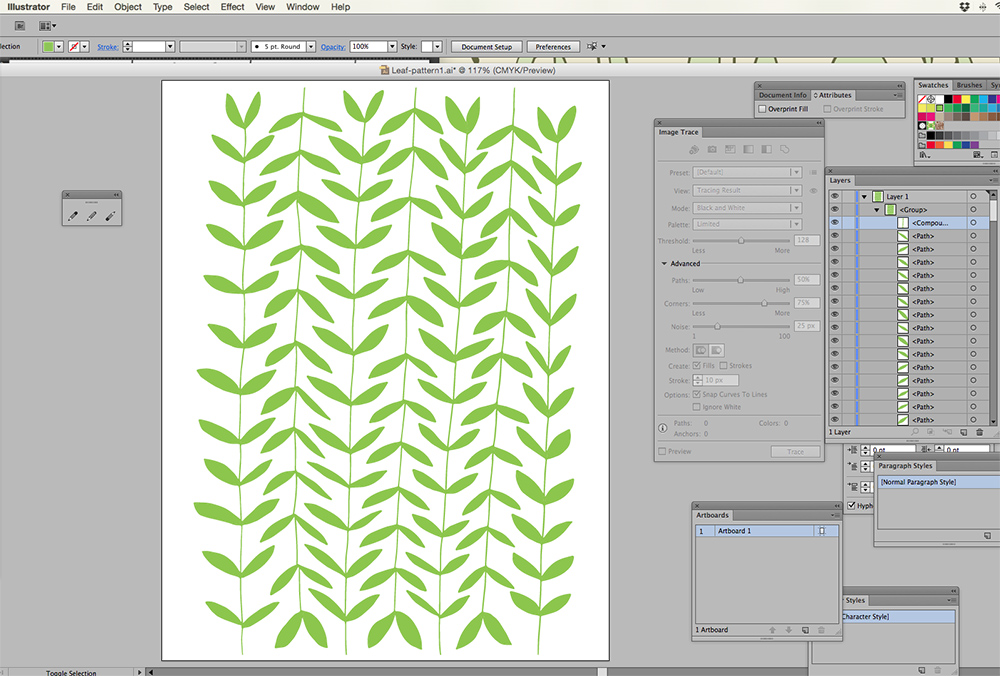 Using Illustrator to turn a drawing into vectors