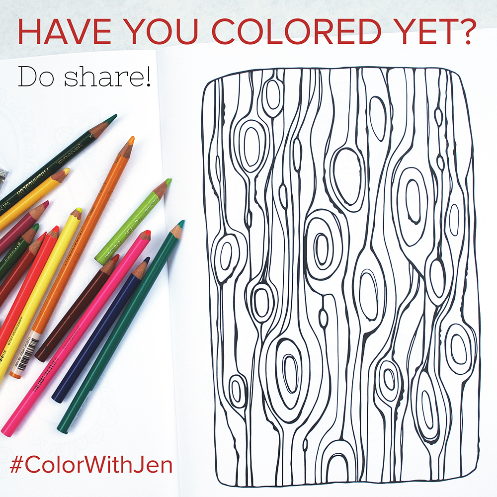 "Share your colored ""Pattern Play"" pages with me!"