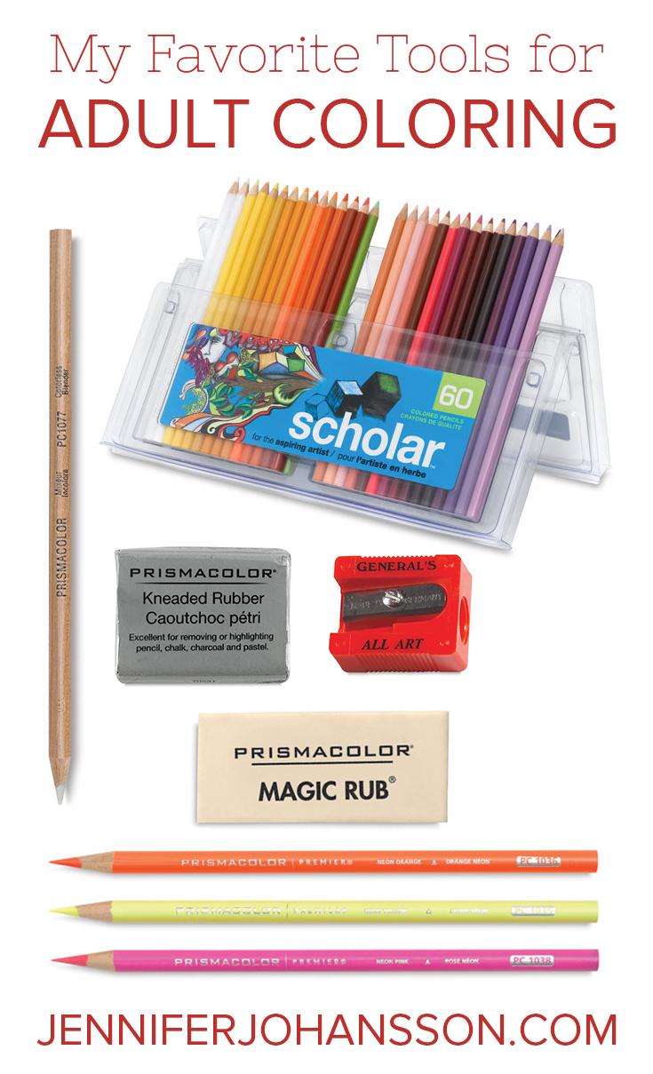 My Favorite Tools for Adult Coloring - JENNIFERJOHANSSON.COM