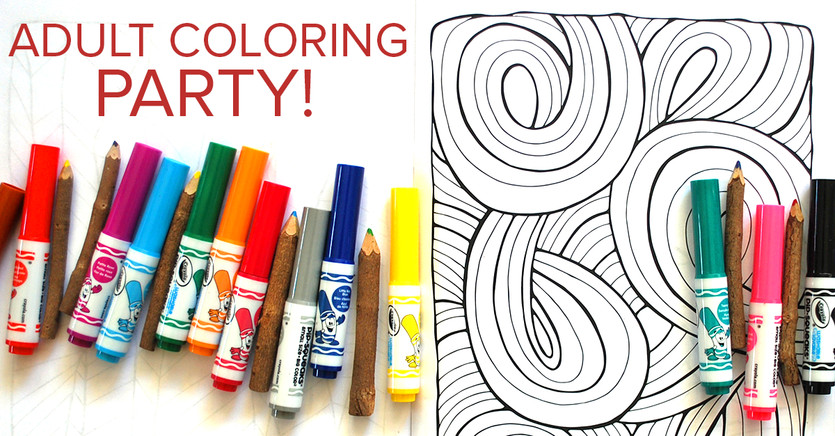 I hosted an adult coloring party on May 12 at the Rockford Art Museum. So fun!