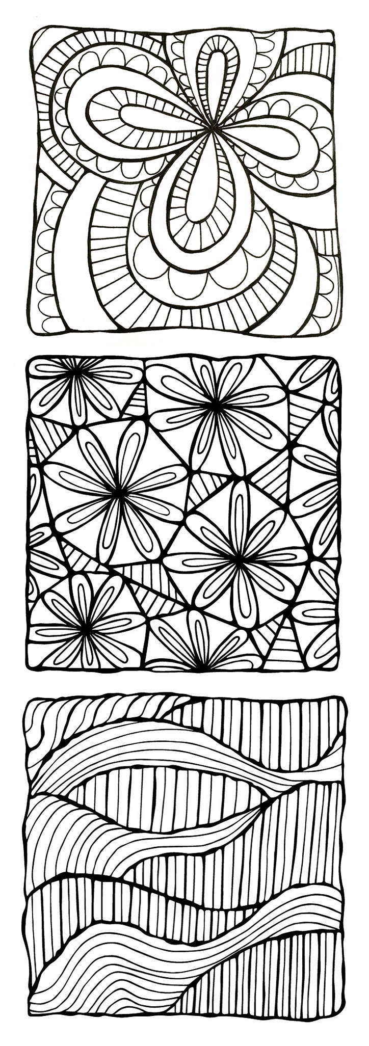 A selection of drawings I that I made for my forthcoming coloring calendar.