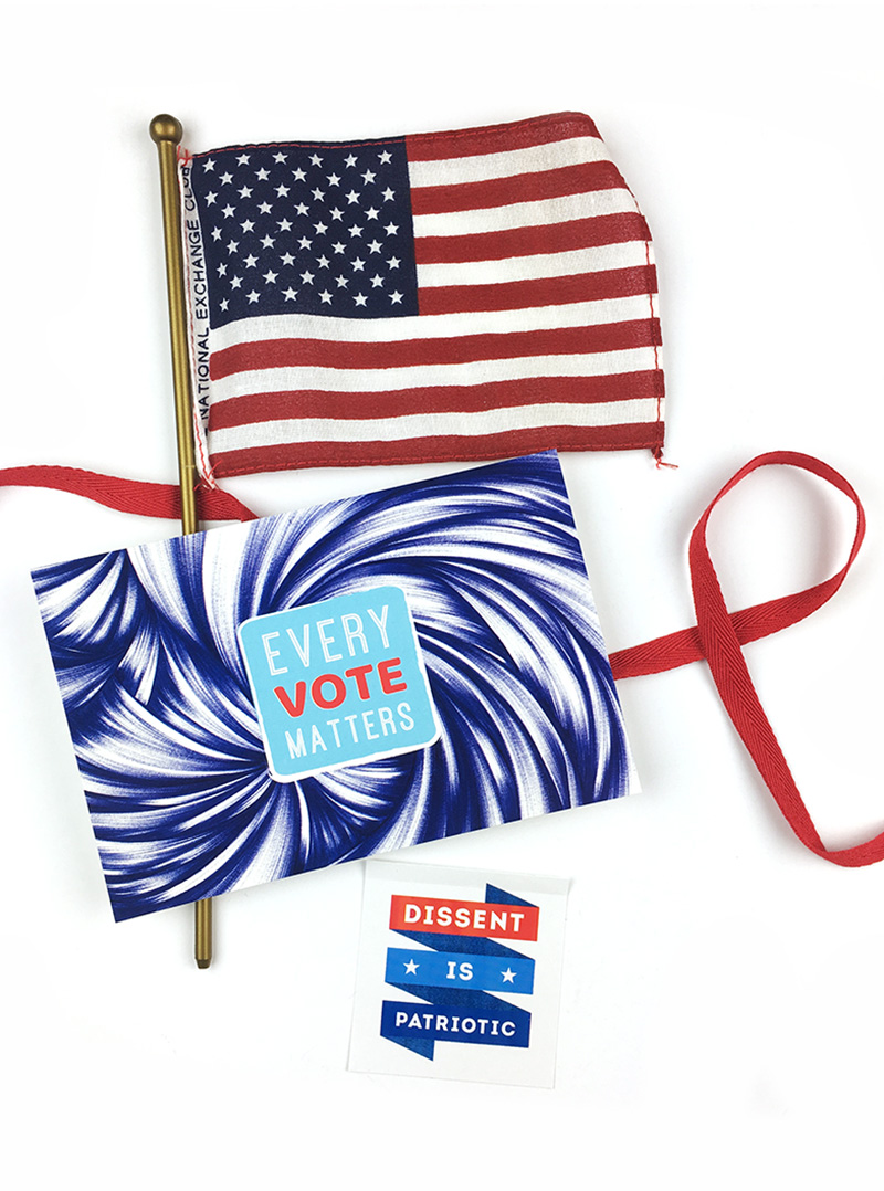 "My ""Every Vote Matters"" postcards are ideal for ""get out the vote"" campaigns. Click to purchase."