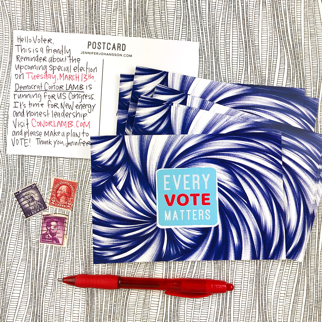 Interested in volunteering to write Postcards to Voters? Click through to learn how.