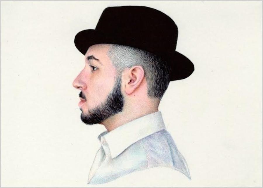 Ballpoint pen self portrait by Nicolas V Sanchez. Yes, it's ballpoint!