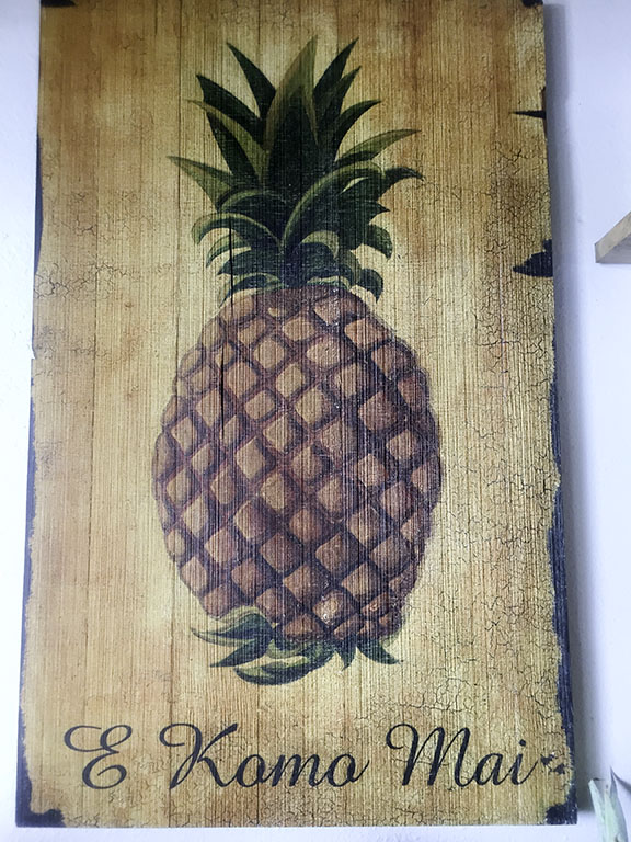 Hawaiian greeting at Wow Wow Lemonade.