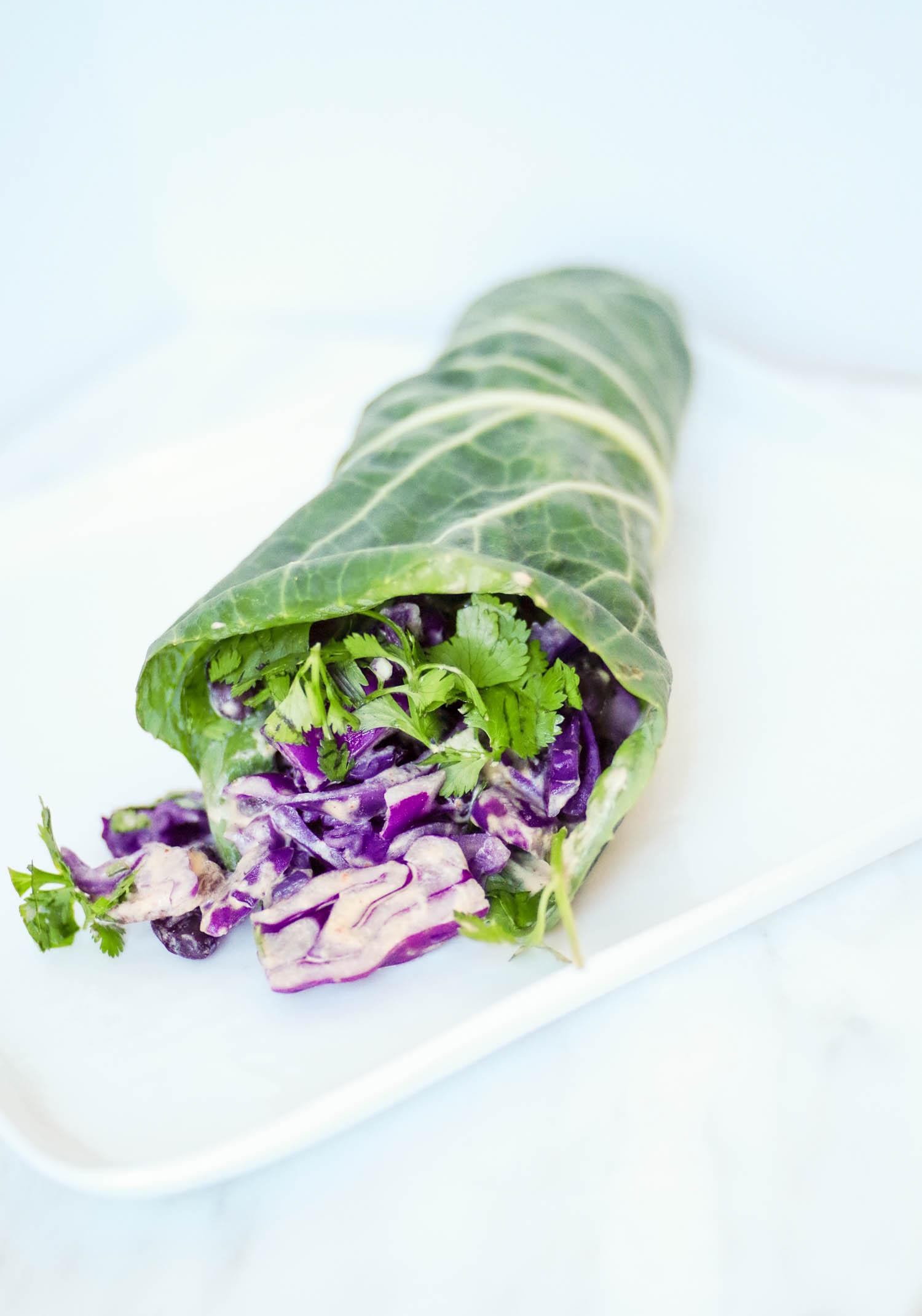 Collard green burrito wrap.
