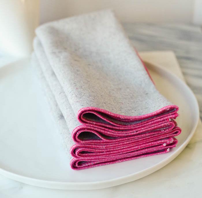 Pink Peony Napkins, from  Beautiful Ingredient Handmade .