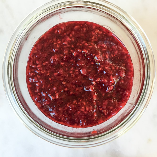 This raspberry chia jam is delicious on toast, scones, nice cream - follow your dreams & imagination!