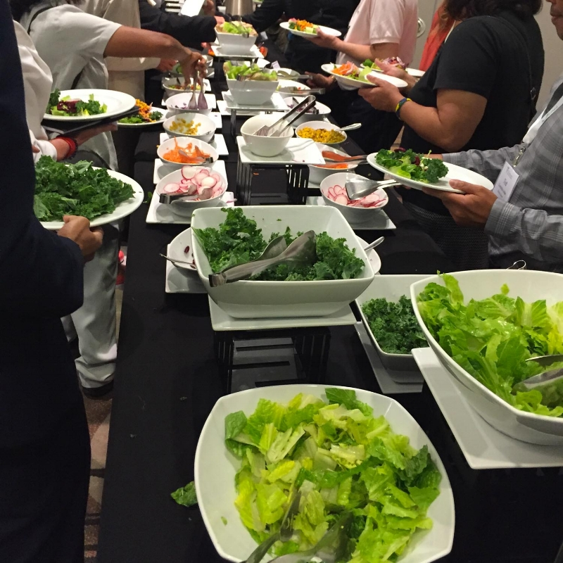 The salad bar at the International Plant-Based Nutrition Healthcare Conference
