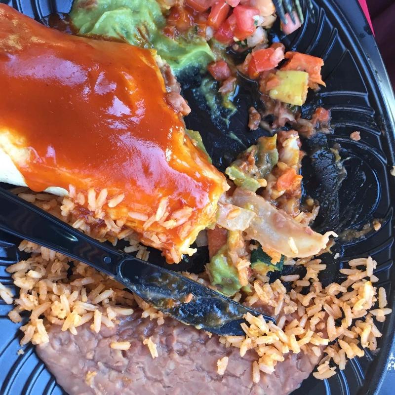 Grilled Veggie Burrito at Cocina Cucamonga
