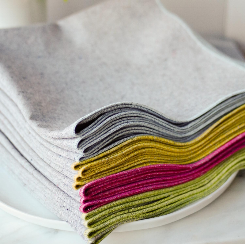 Heathered Gray Napkins from the Bloom Collection, each color sold in sets of 4