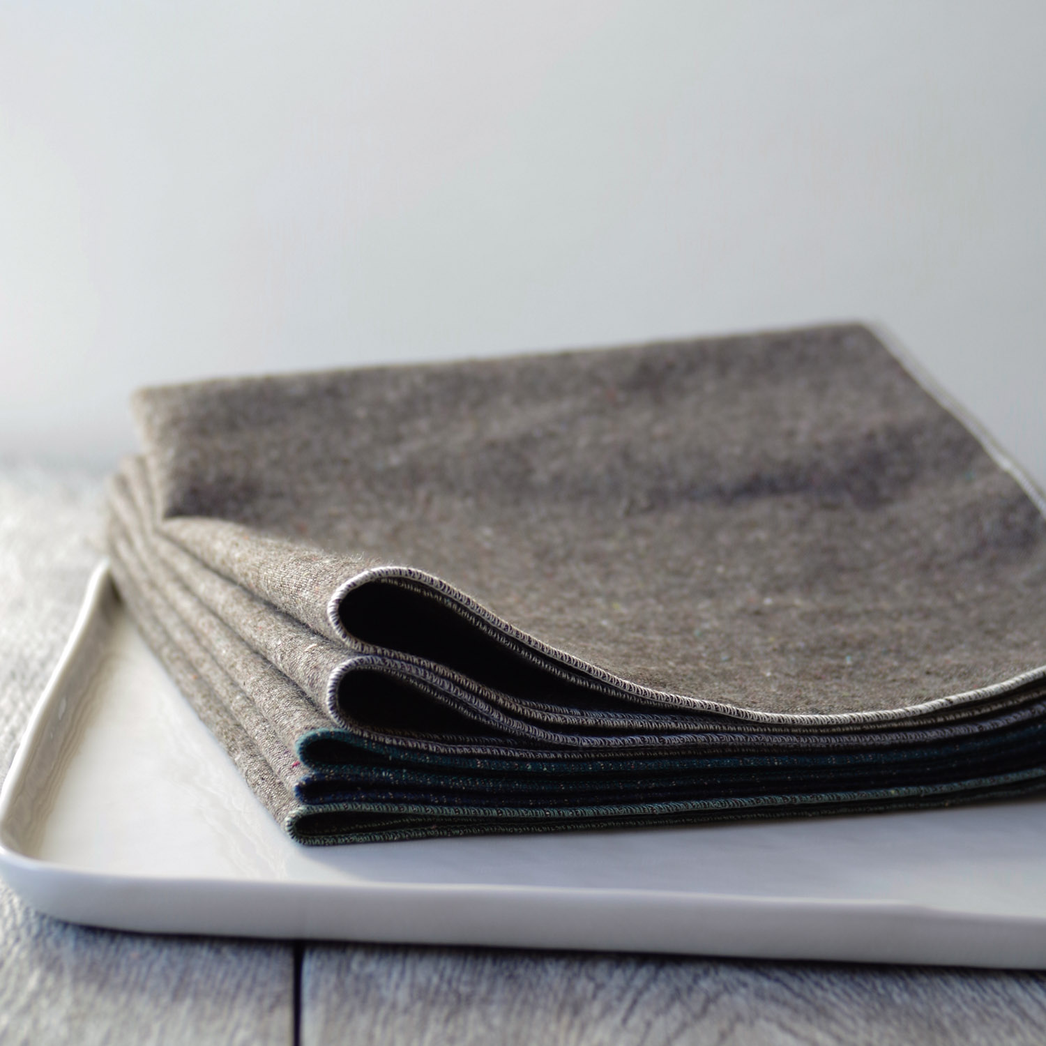 Beautiful Ingredient Handmade napkins in Granite, ideal for the holidays!
