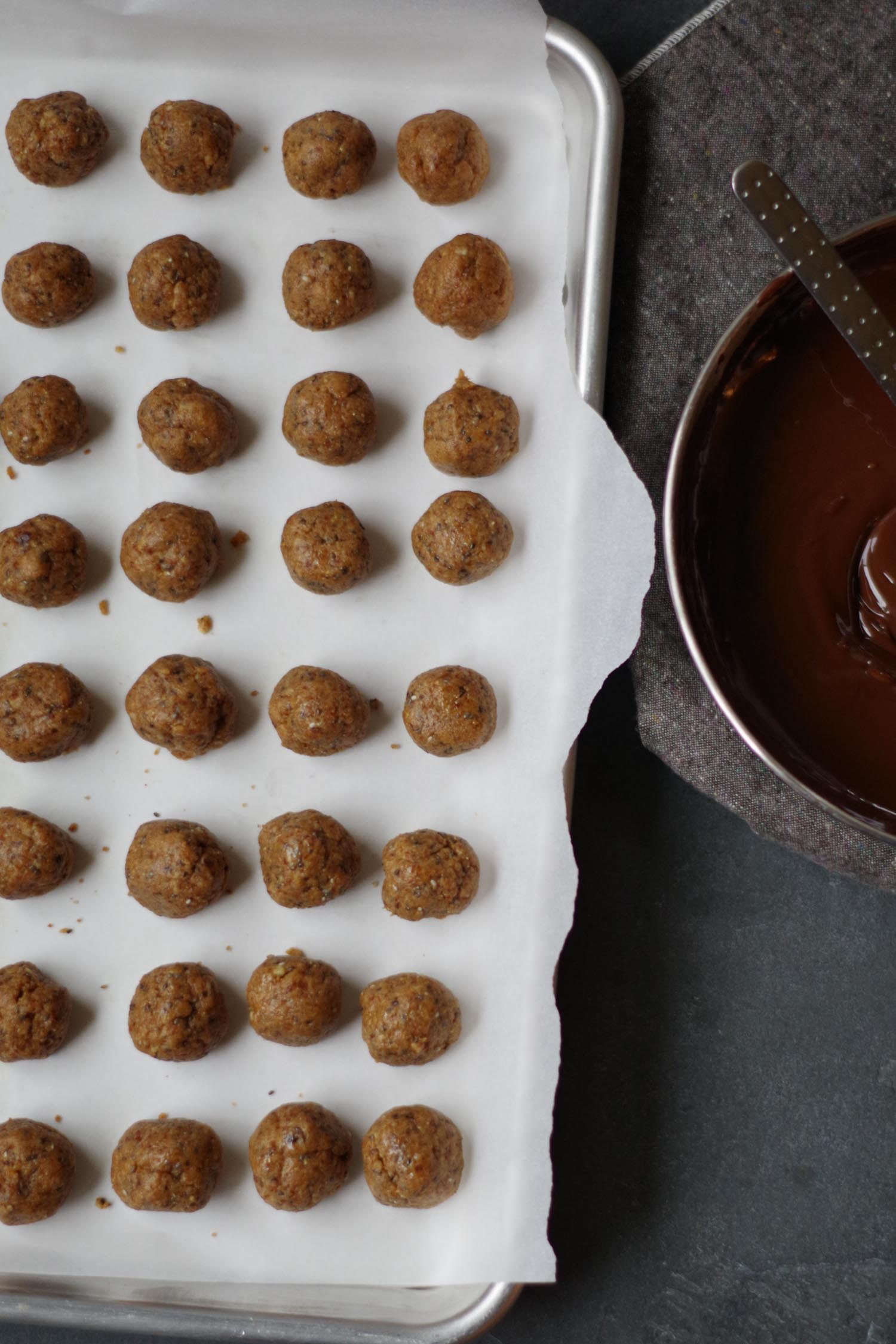 Peanut butter balls and chocolate, by Beautiful Ingredient
