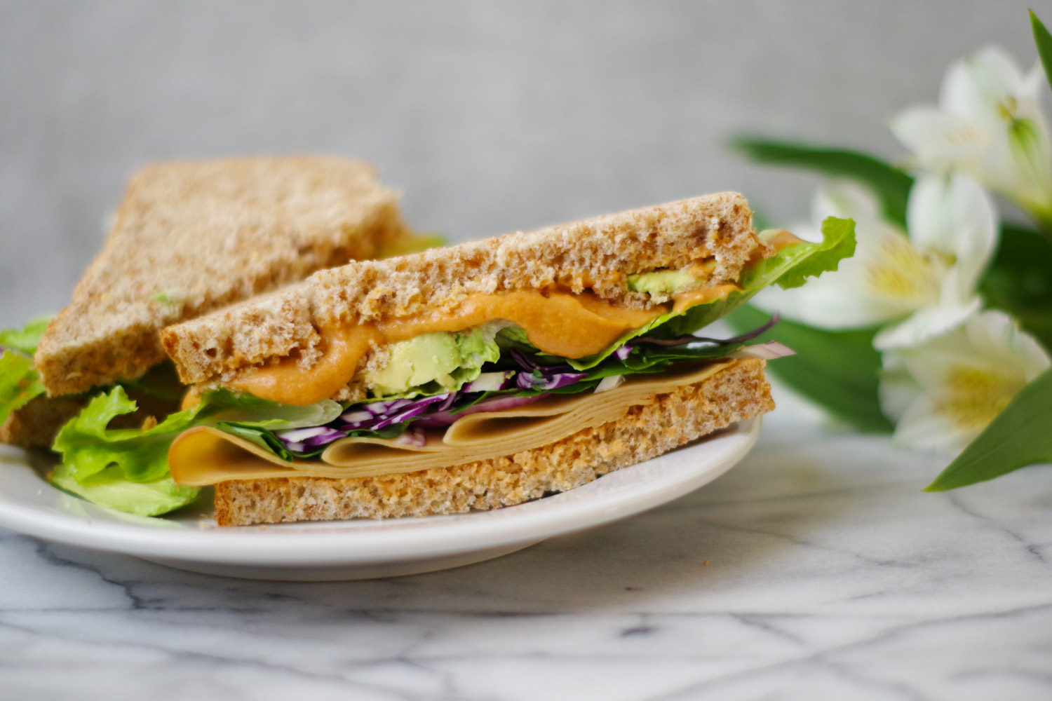 Vegan Chipotle Mayo with Cauliflower Base makes a delish sandwich spread, by Beautiful Ingredient