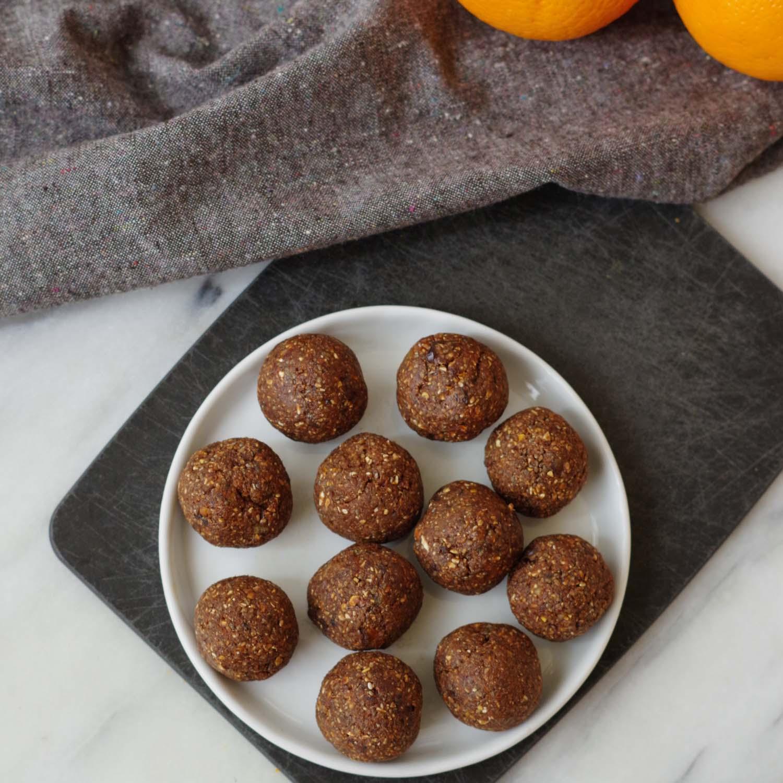 Chocolate Orange Energy Bites
