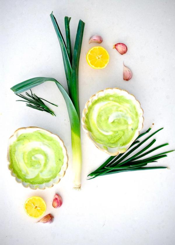 Zucchini Leek Soup by Sunnyside Hanne.