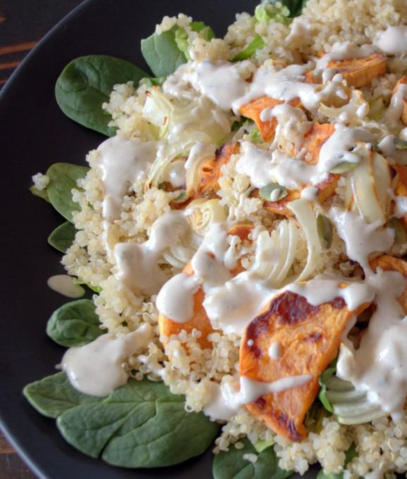 Roasted Veggie Quinoa Salad by The Veggie Gal.