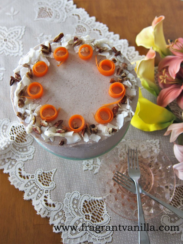 Vegan Festive Carrot Cake by Fragrant Vanilla.