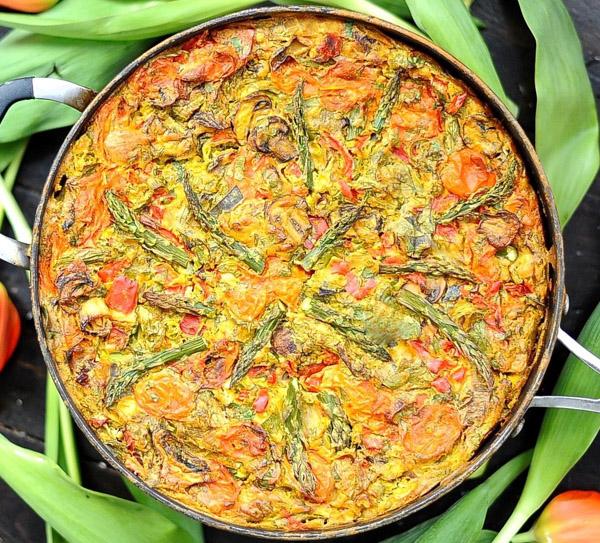 Frittata -Vegan, Paleo, Gluten-free by Sunnyside Hanne.