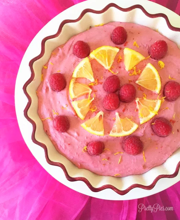 Raspberry Lemonade Pie by Pretty Pies.