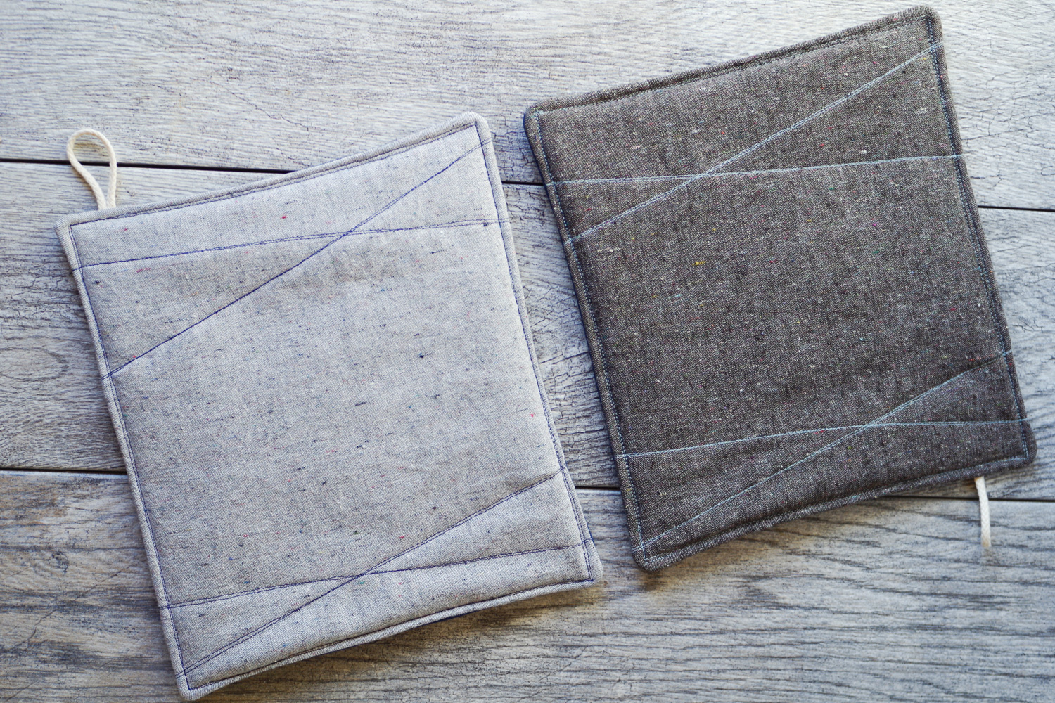 Heathered Pot Holders by Beautiful Ingredient. Organic Materials.