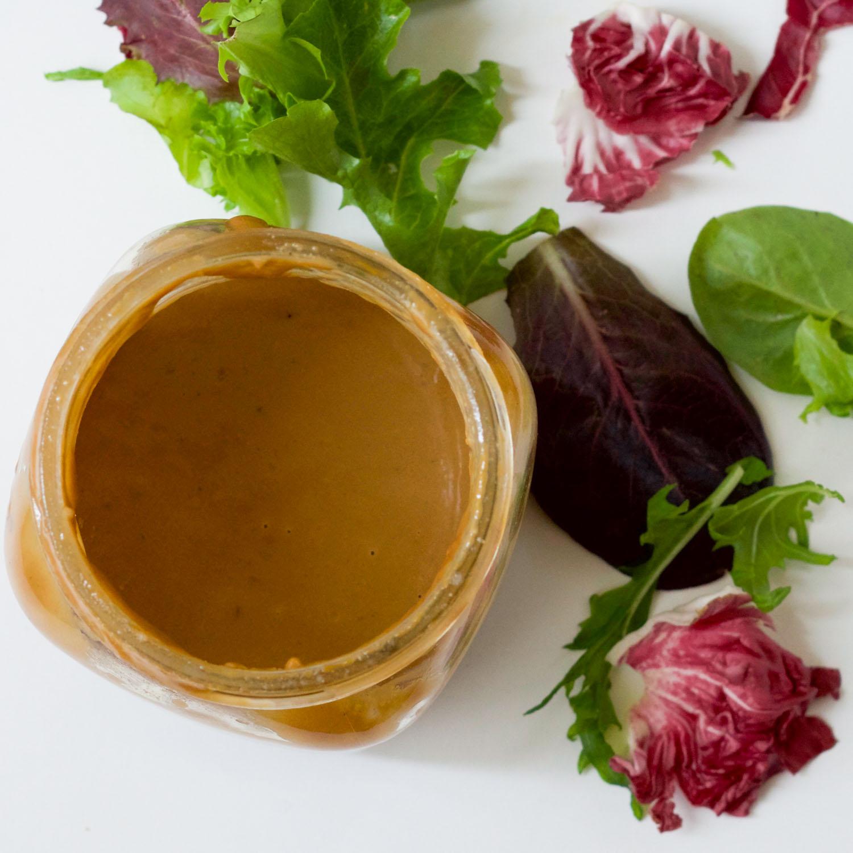Quick & easy Tahini Balsamic Salad Dressing by Beautiful Ingredient