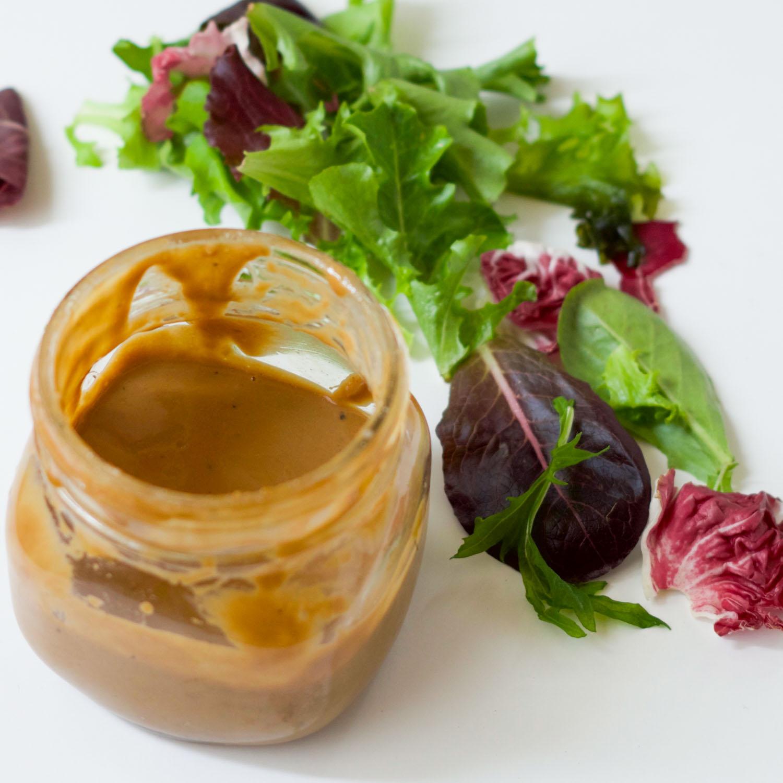 Tahini Balsamic Salad dressing by Beautiful Ingredient
