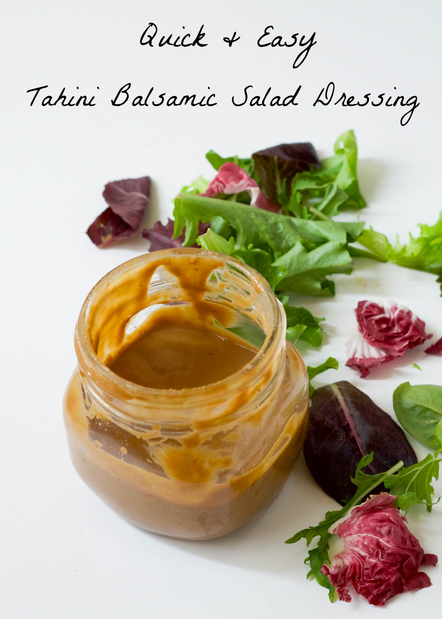 Quick and Easy Tahini Balsamic Salad Dressing by BEautiful Ingredient