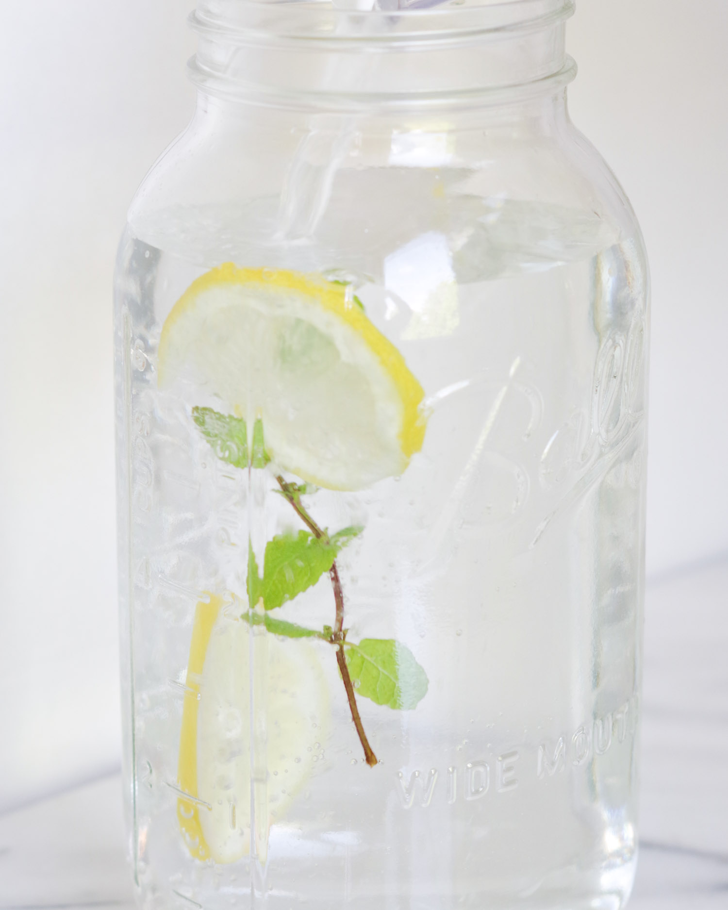 Lemon Mint Water, so easy to make and sure to add more water to your day, by Beautiful Ingredient