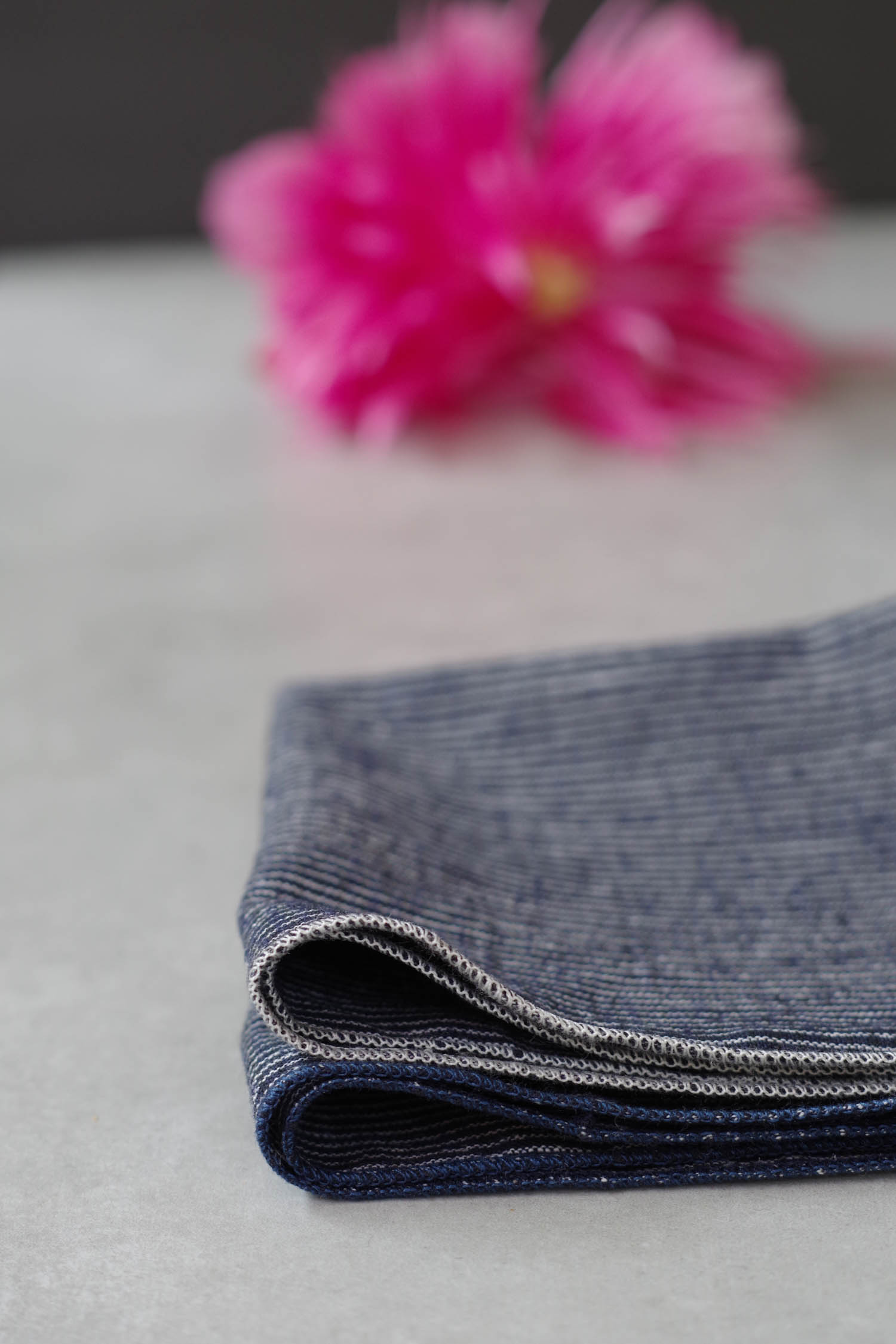 Marcelle Navy Blue Cocktail Napkins, by Beautiful Ingredient