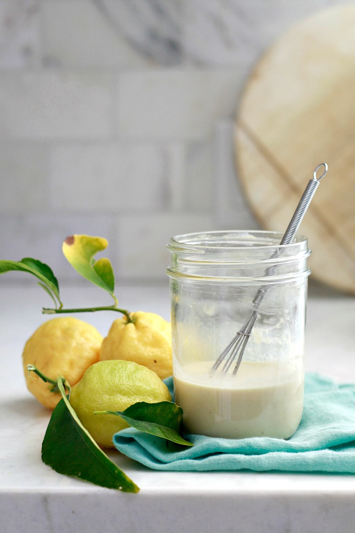 Lemon Tahini Salad Dressing, by Yummy Mummy Kitchen