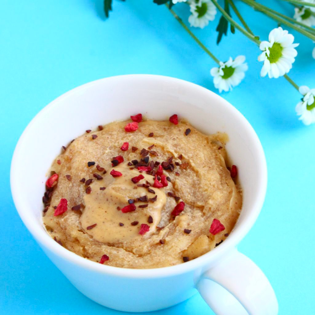 Vegan Peanut Butter Microwave Mug Cake 3-Ingredients, by Rhian's Recipes