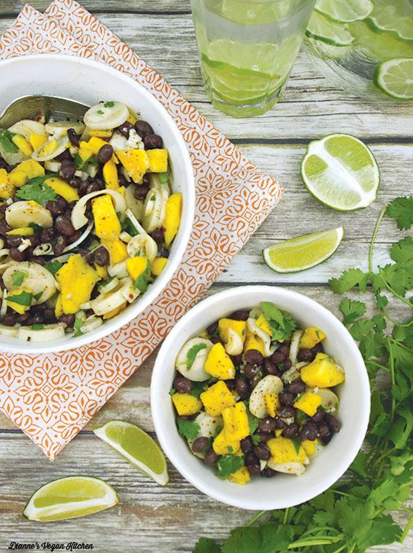 Vegan Black Bean Mango Salad, by Dianne's Vegan Kitchen