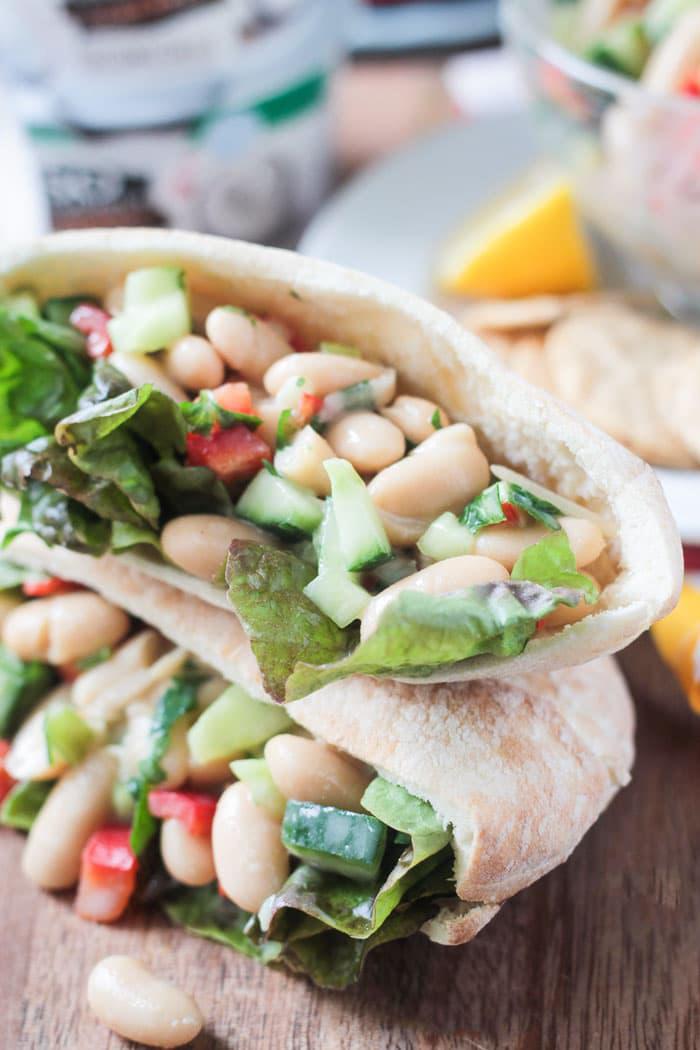 Easy Vegan White Bean Salad Sandwich, by Veggie Inspired