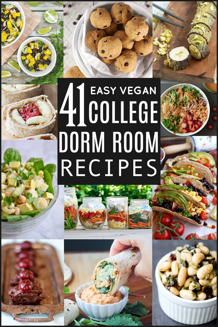 41 Easy Vegan College Dorm Room Recipes, compiled by Beautiful Ingredient