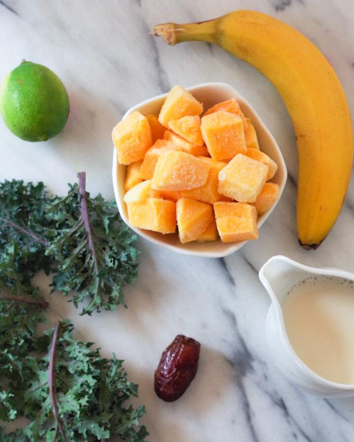 Mango Lime Smoothie Ingredients by Beautiful Ingredient.