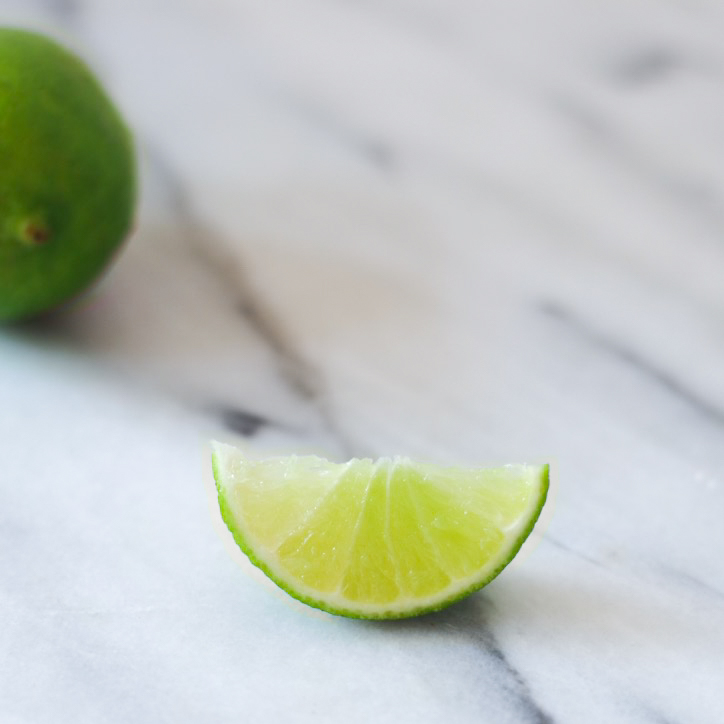 Lime wedge for Mango Lime Smoothie By Beautiful Ingredient.