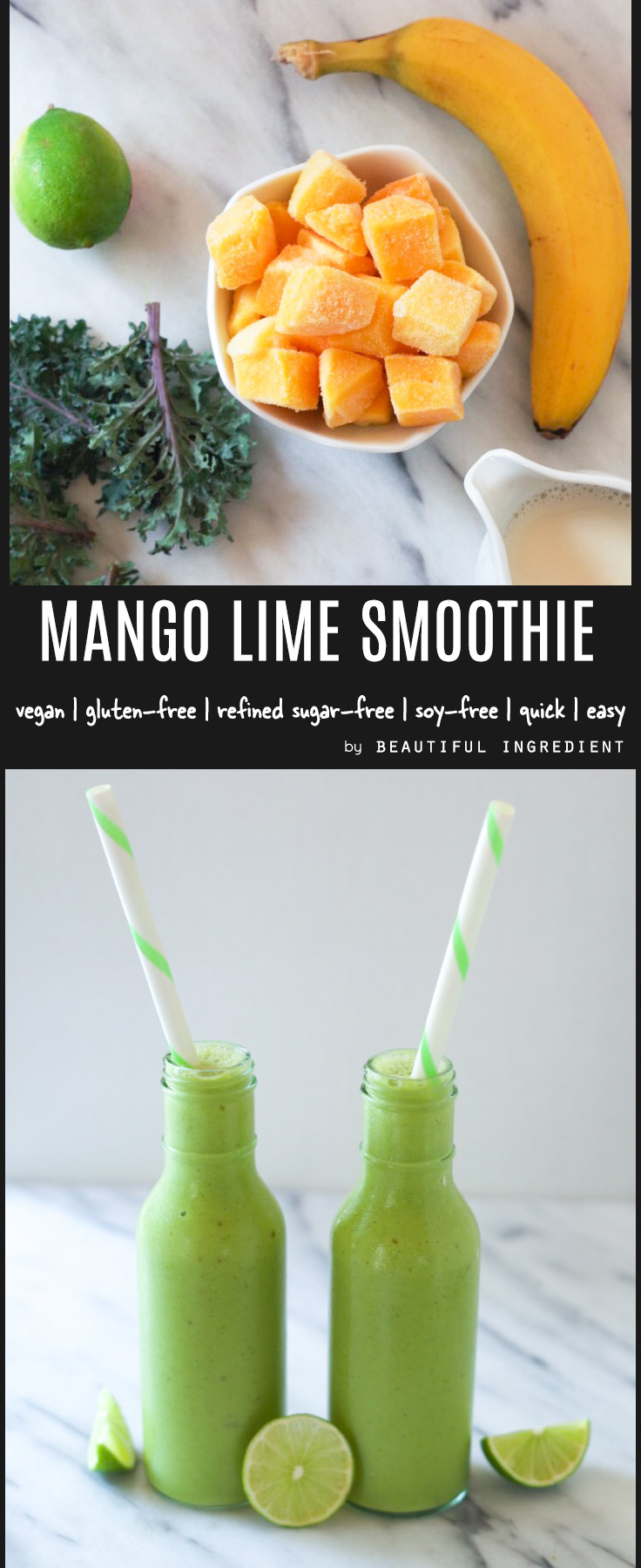 Mango Lime smoothie by Beautiful Ingredient.