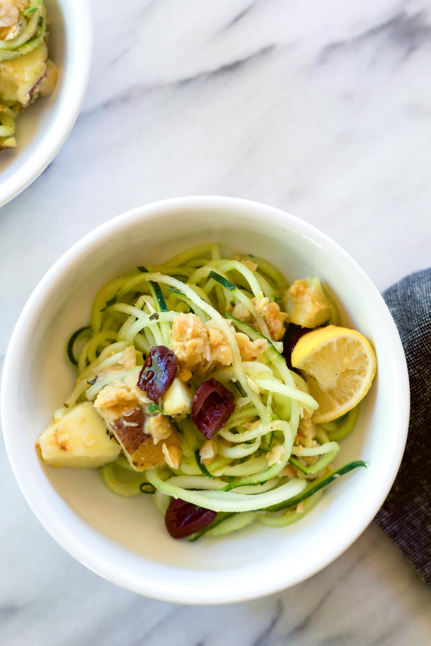 Nicoise-Inspired Salad with Spiralized Cucumber Noodles, by beautiful Ingredient